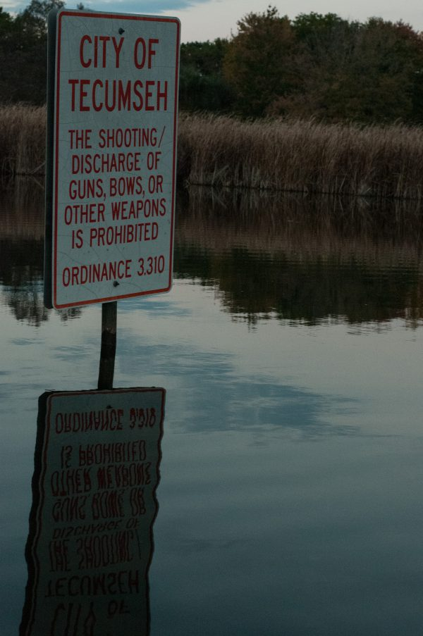 City of Tecumseh Sign - Red Mill Pond